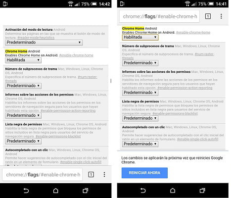 chrome flags android