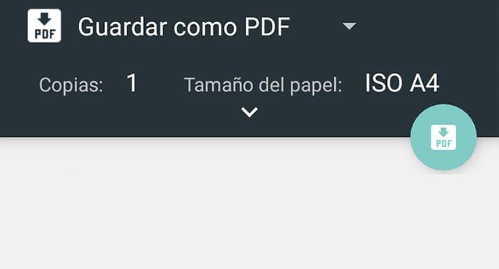 Cómo guardar una página web como PDF en Android