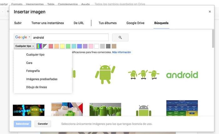 Insertar y buscar imágenes con licencia abierta