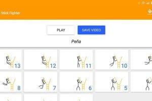 crear animaciones android stick fighter