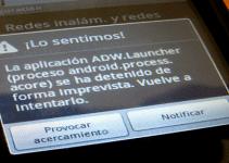 error detenido aplicacion android