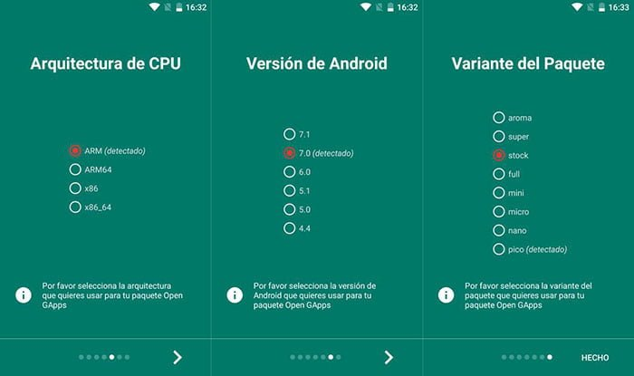 instalar google apps android
