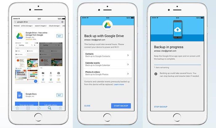 Cómo pasar los datos de iPhone a Android a través de Google Drive