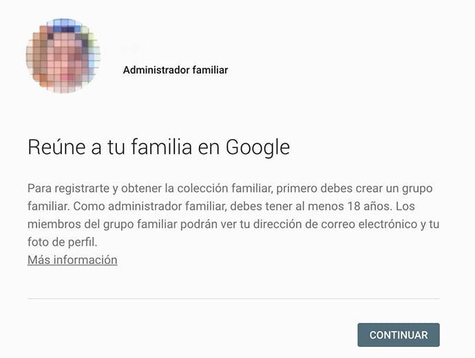 colección familiar Google Play
